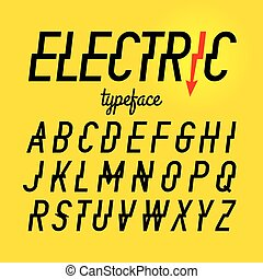 Electric style typeface - Electric style alphabets