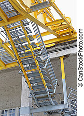 Steel Stairs For Climbing in Crane at Dock