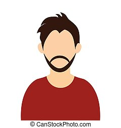 man with brown hair and beard - caucasian man with brown...