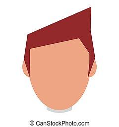 head of man brown hair - caucasian head man brown hair...
