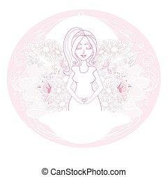 pregnant woman card