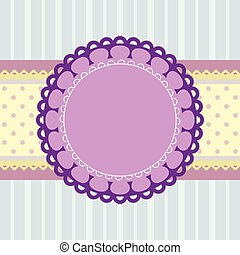 Template greeting card, vector image.