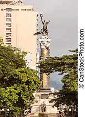 Independence monument in Guayaquil Ecuador