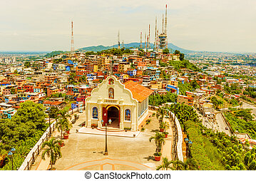 Small Catholic Chapel in Cerro Santa Ana Guayaquil - High...