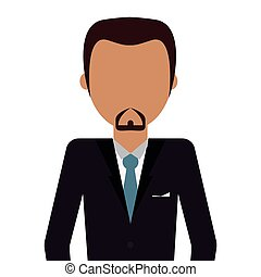 bearded man with suit and tie