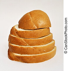 Grain tower - Slices of white weat bread