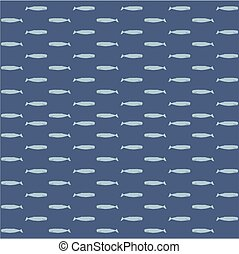 The sperm whale vector seamless pattern. Fresh design for...