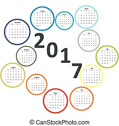 Designer calendar 207 year - Calendar 207 year