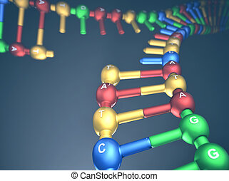 DNA Replication - 3D illustration, concept of DNA...