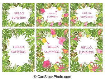 Tropical backgrounds for summer holiday