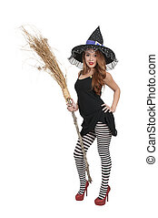 Wicked Witch - Beautiful woman wicked witch with ruby shoes
