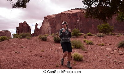 Monument Valley Totem Pole Girl Hiker