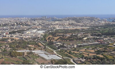 Valletta Malta aerial view - Birds eye view of Mediterranean...