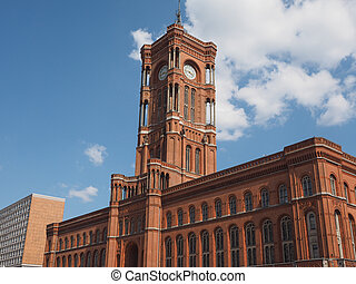 Rotes Rathaus in Berlin - Rotes Rathaus meaning The Red Town...
