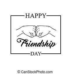 Vector illustration for friendship day with a friendly hand punch. Vector illustration