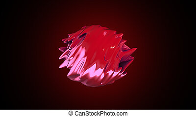 abstract organic form 3D rendering - abstract fantastic...