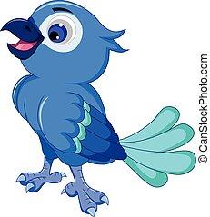 Cute blue bird posing