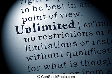 definition of unlimited - Fake Dictionary, Dictionary...