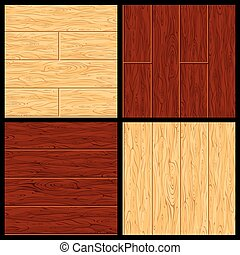 Parquet Vector Seamless Pattern. Hardwood Flooring - Old...