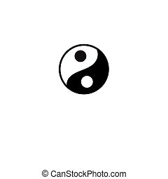symbol of Yin and Yang - Beautiful vector black and white...