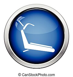 Treadmill icon Glossy button design Vector illustration