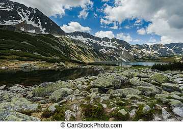 Five Lakes Valley in Tatra mountains Poland, summer time...