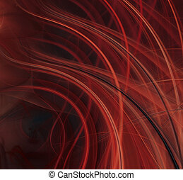 Abstract fractal background - Abstract red flame fractal...