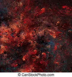 Abstract fractal background - Abstract red blue dark fractal...