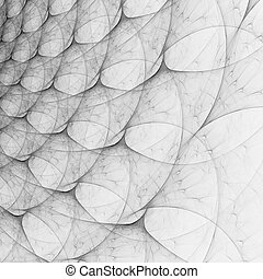 Abstract fractal background - Abstract black and white...