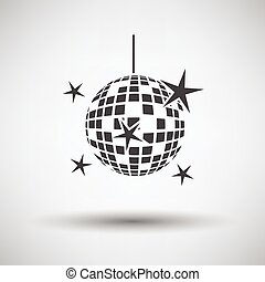 Night clubs disco sphere icon on gray background, round...