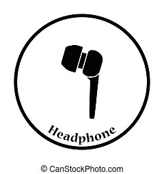 Headset icon Thin circle design Vector illustration