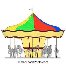 Merry-Go-Round Horse Carousel... - Merry-Go-Round Horse...