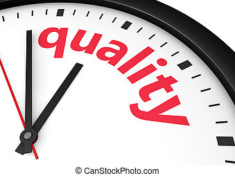 Quality Time Clock Concept - Quality time business and...