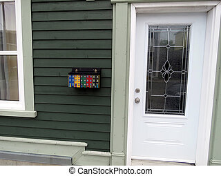 Newfoundland St Johns door 2016 - Door of house in St Johns...