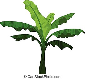 banana tree cartoon for you design - vector illustration of...