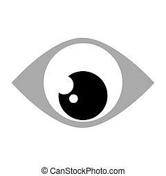 eye looking down - simple black and grey eye looking down...