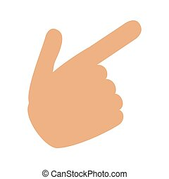 hand index finger - hand pointing with index finger vector...
