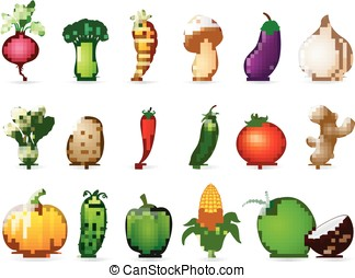 Fresh vegetables cartoon - vector illustration of Fresh...