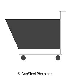shoping cart icon design - icon of shoping cart on flat...