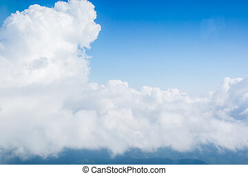 View of clouds from high up in the sky (it was actually...