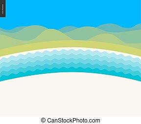 Summer beach landscape background