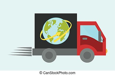 Delivery design illustration - Delivery design over white...
