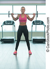 Fitness Woman Doing Exercise For Legs