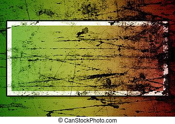 reggae,  grunge, cores, amarela, fundo, verde, vermelho