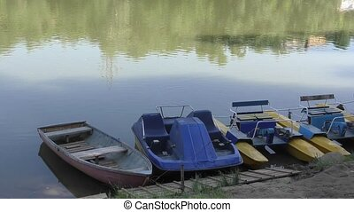 Boat on the shore river