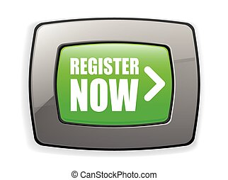 Register now design - Register now design over white...