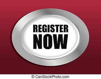 Register now design - Register now design over red...