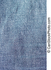 Blue jeans background with folds close-up image