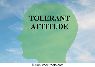 Tolerant Attitude mental concept - Render illustration of...