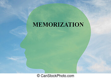 Memorization mental concept - Render illustration of...